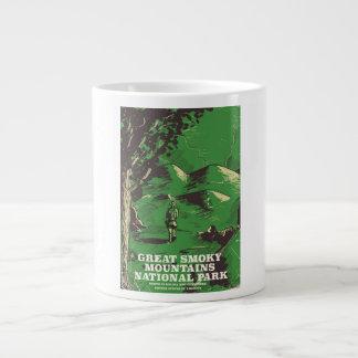 Great Smoky Mountains National Park travel poster Large Coffee Mug