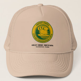 35d0b7637d8 Great Smoky Mountains Natl Park Camp NP-1 Co 1214 Trucker Hat