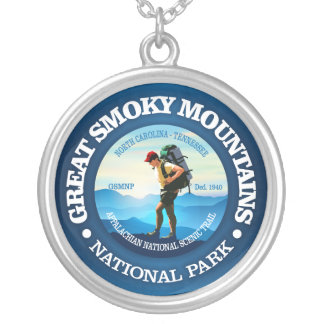 Great Smoky Mountains NP (Hiker C) Silver Plated Necklace