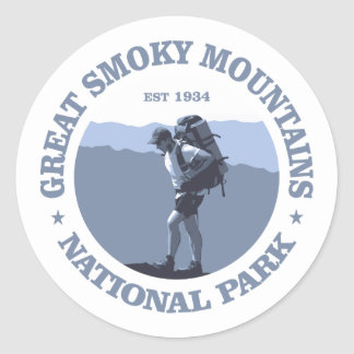 Great Smoky Mountains Pegatina Redonda