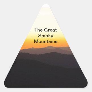 Great Smoky Mountains Pegatina Triangular