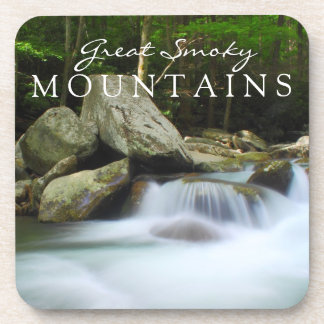Great Smoky Mountains Stream Watefall Chimney Top Drink Coaster