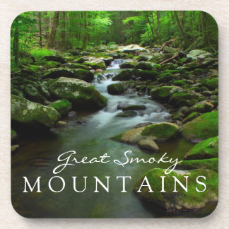 Great Smoky Mountains Stream Watefall Tremont Area Beverage Coaster