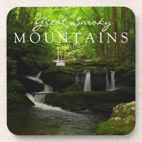 Great Smoky Mountains Stream Watefall Tremont Beverage Coaster
