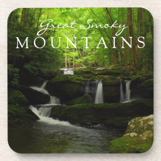 Great Smoky Mountains Stream Watefall Tremont Drink Coaster