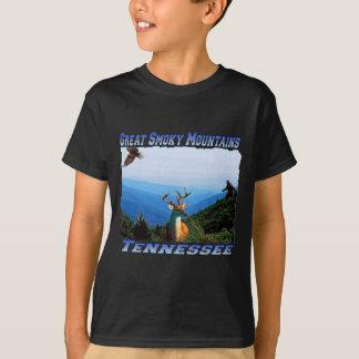 Great Smoky Mountains Tennessee Kids Dark T-shirt
