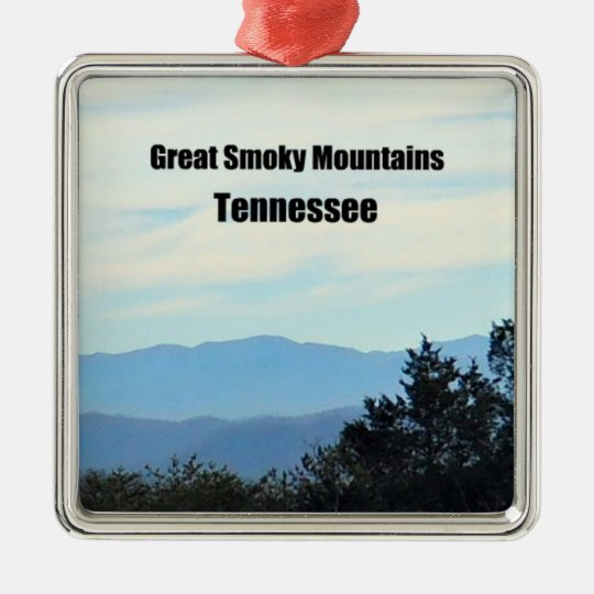 Great Smoky Mountains, Tennessee Metal Ornament