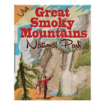 Great Smoky Mountains Travel Poster.