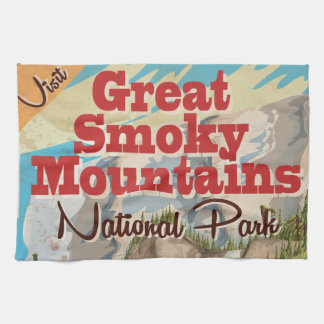 Great Smoky Mountains Travel Poster. Kitchen Towels