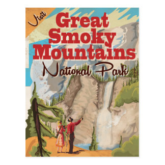 Great Smoky Mountains Travel Poster. Post Card