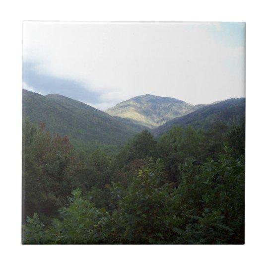 Great Smoky Mountains Vista 8 Azulejo Cuadrado Pequeño
