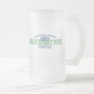 Great Smoky Mtns National Park Frosted Glass Beer Mug