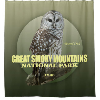 Great Smoky Mtns NP (Barred Owl) WT Shower Curtain