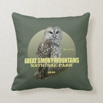 Great Smoky Mtns NP (Barred Owl) WT Throw Pillow