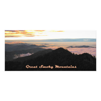 Great Smoky Mtns Sunset bookmarks Rack Card