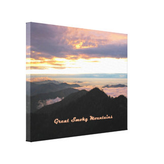 Great Smoky Mtns Sunset Canvas Print