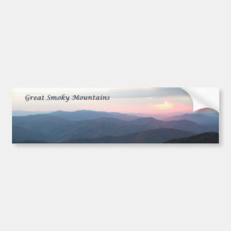 Great Smoky Mtns Sunset Car Bumper Sticker