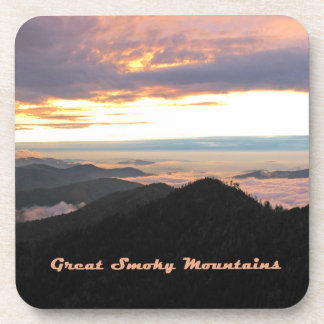 Great Smoky Mtns Sunset Coaster