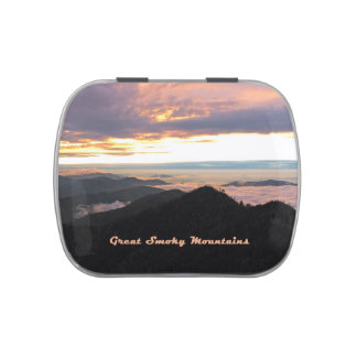 Great Smoky Mtns Sunset Jelly Belly Tin