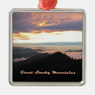 Great Smoky Mtns Sunset Metal Ornament