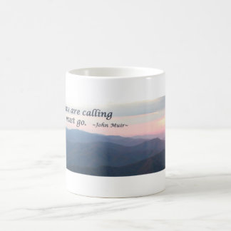 Great Smoky Mtns Sunset: Mtns are calling/J Muir Coffee Mug