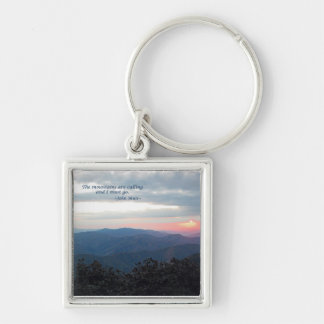 Great Smoky Mtns Sunset: Mtns are calling/J Muir Key Chain