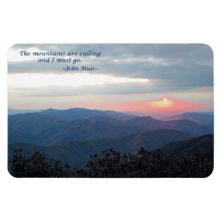 Great Smoky Mtns Sunset: Mtns are calling/J Muir Magnet