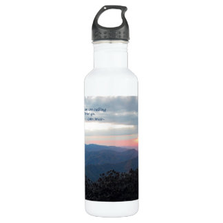 Great Smoky Mtns Sunset: Mtns are calling/J Muir Stainless Steel Water Bottle