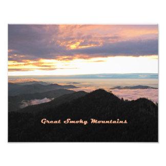 Great Smoky Mtns Sunset Photo Print