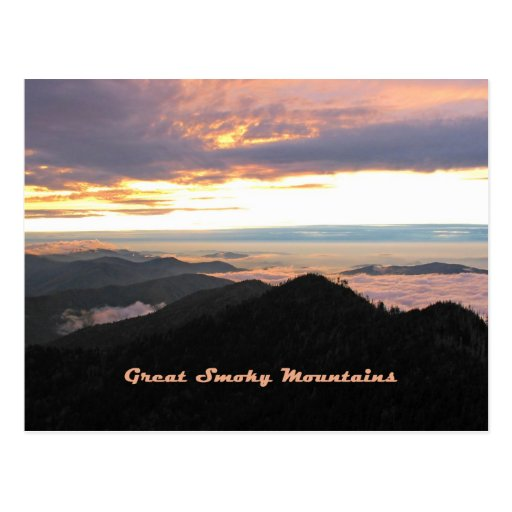 Great Smoky Mtns Sunset Post Cards