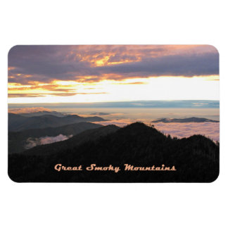 Great Smoky Mtns Sunset Rectangle Magnets