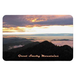 Great Smoky Mtns Sunset Rectangular Photo Magnet
