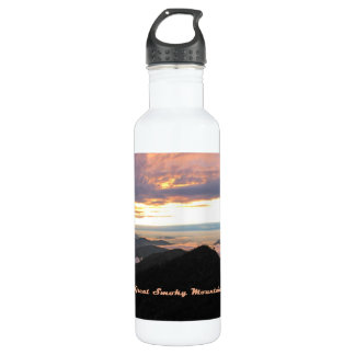 Great Smoky Mtns Sunset Water Bottle