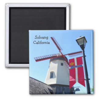 Great Solvang Magnet! 2 Inch Square Magnet