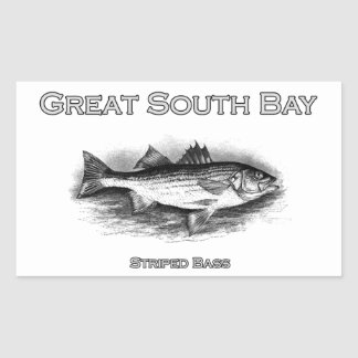 Great South Bay Striped Bass Rectangular Sticker