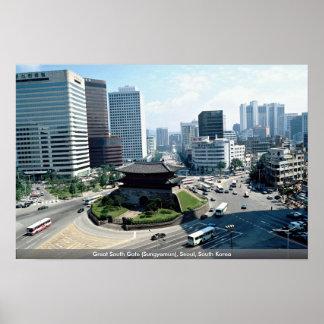 Great South Gate (Sungyemun), Seoul, South Korea Poster