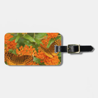 Great Spangled Fritillaries on Butterfly Milkweed Luggage Tag