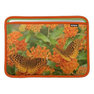 Great Spangled Fritillaries on Butterfly Milkweed MacBook Sleeve