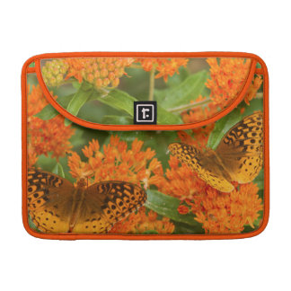 Great Spangled Fritillaries on Butterfly Milkweed Sleeve For MacBook Pro
