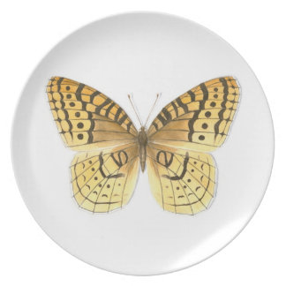 Great Spangled Fritillary Butterfly Plate