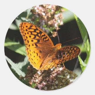 Great Spangled Fritillary Classic Round Sticker