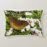 Great Spangled Fritillary on Mountain Laurel Photo Decorative Pillow