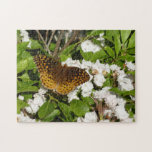 Great Spangled Fritillary on Mountain Laurel Photo Jigsaw Puzzle