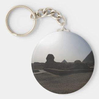 Great Sphinx and pyramid at sunset Keychain