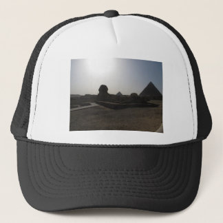 Great Sphinx and pyramid at sunset Trucker Hat