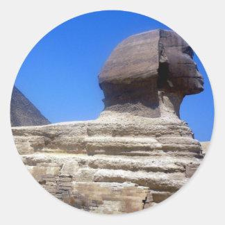 great sphinx classic round sticker