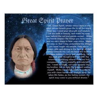 Great Spirit Prayer Poster