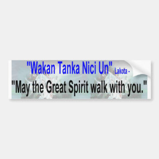 great spirit walk car bumper sticker