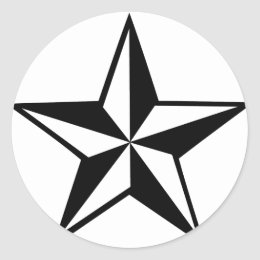 great star icon classic round sticker