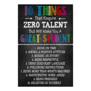 photograph relating to 10 Things That Require Zero Talent Printable referred to as Skill Posters Image Prints Zazzle